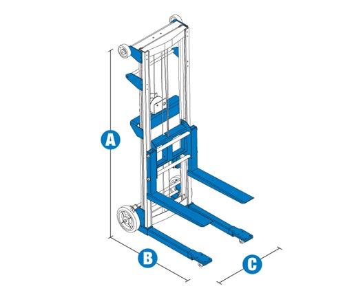 Blulift | Genie Material Lift Forklift GL-4