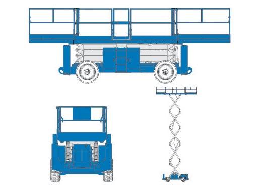 scissor lift diagram blulift | scissor lifts 5390-rt diesel aerial work ... scissor lift wiring diagram