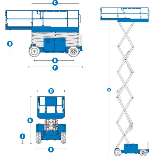 Blulift Scissorlift Diagram