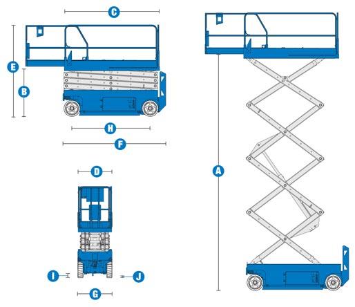 blulift electric scissor lift elevated platform gs 3232 genielift rh blulift ie Genie AWP 30s Lift Genie Boom Lift
