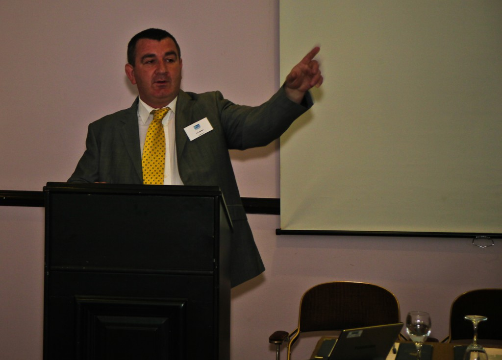 Pat Brown of Blulift speaking at the Be Wise At Height Seminar